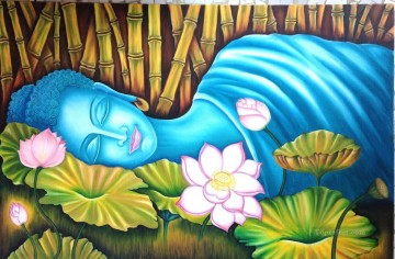Sleeping Art - sleeping Buddha in lotus Buddhism